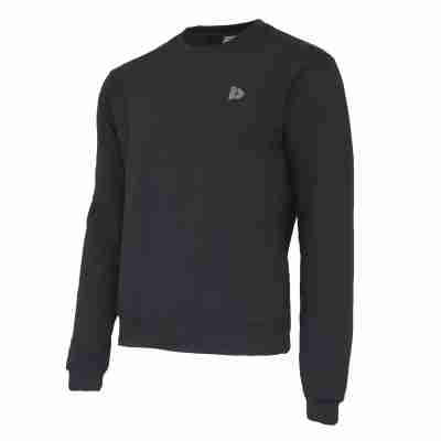 Donnay Heren Fleece Crew Sweater Dean zwart
