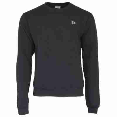 Donnay Heren Fleece Crew Sweater Dean zwart voorkant