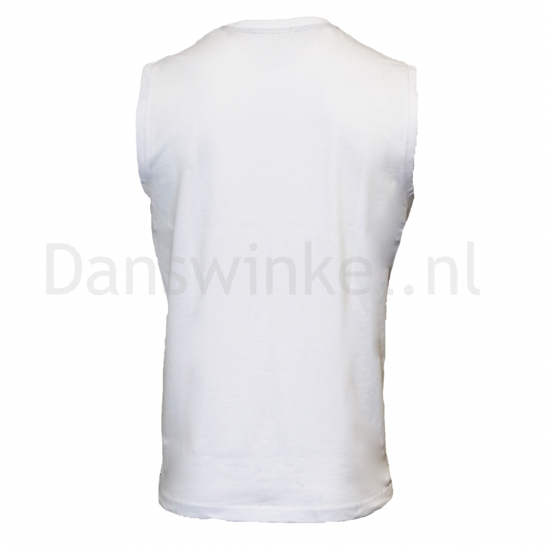 Donnay Heren Mouwloos T-shirt Stan wit achter