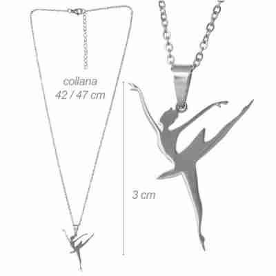 Alista zilver kleurige ketting met Ballerina hanger 32012