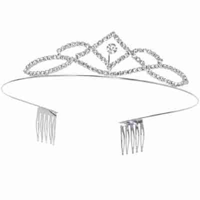 Alista Metalen Tiara met Witte Steentjes