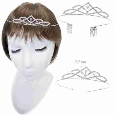Alista Metalen Tiara met Witte Strass voor Ballet