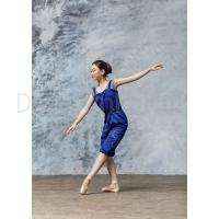 Grishko Warm-Up Unitard Kort blauw