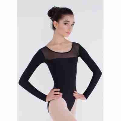 Grishko DL1019MP Zwart Balletpak met Lange Mouwen
