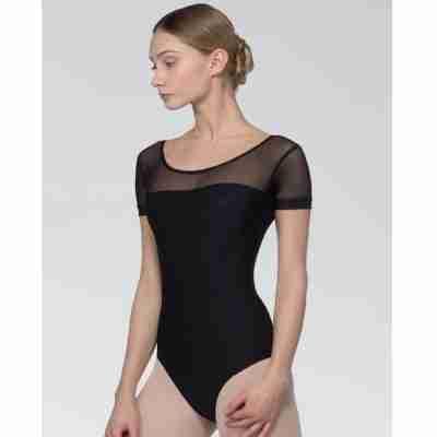Grishko DL1025MP balletpakje met korte Mouwen van gaas