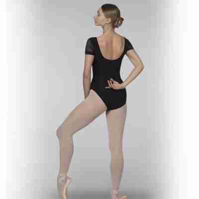 Grishko dames balletpakje met korte Mouwen zwart DL1025MP