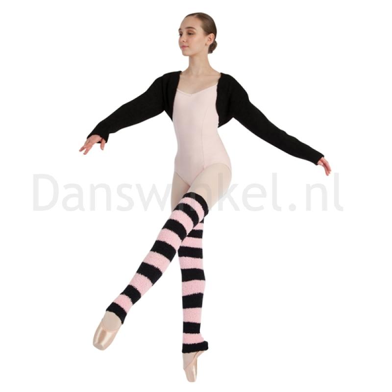 harmonie ballet beenwarmers zwart roze