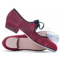 Katz Zilver Glitter Tap Schoenen voor dames rood