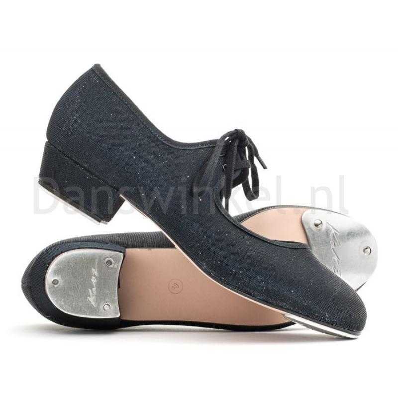 Katz Zilver Glitter Tap Schoenen voor dames zwart