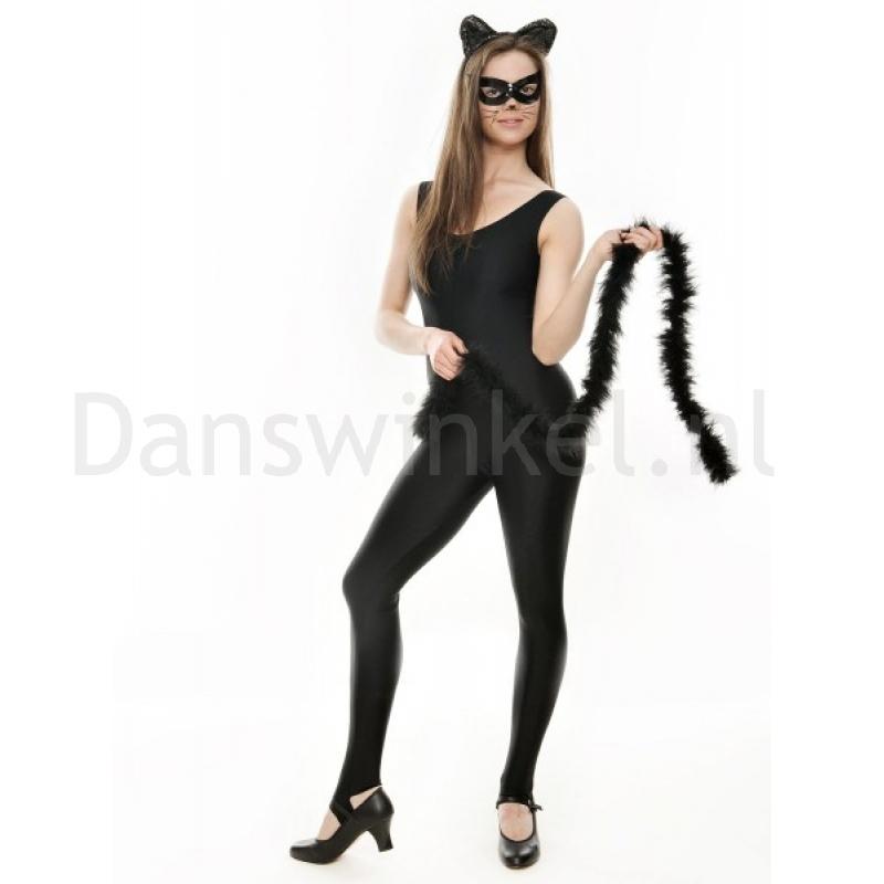 Katz dames dansschoen zwart pu en rubber zool bandje over wreef en gespje