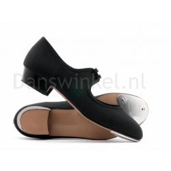 Katz Zwart Canvas Tap schoen voor dames