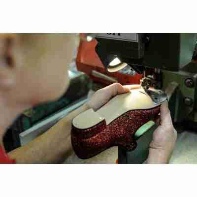 rode glitter Katz Tap dans schoenen met rubberen zool ZCHTap
