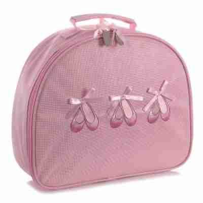 Katz kb100 roze glimmende ballet handtas voor kinderen