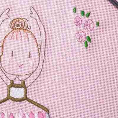 Katz kb102 roze balletkoffer voor meisjes met ballerina print