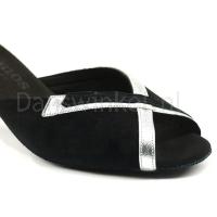 rummos zwart met zilver dansschoenen