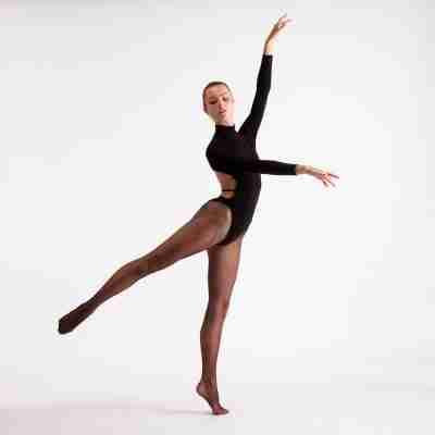 Silky Dance zwarte netpanty voor salsa en showdance