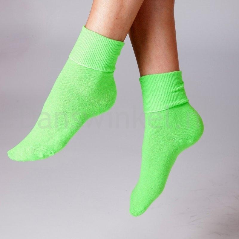 Silky Dance Neon dansokken voor kinderen groen zachte sokken
