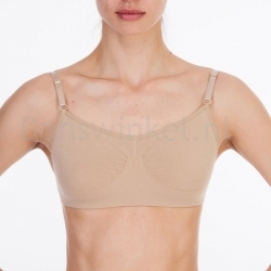 Silky Dance Seamless Clear Back Bra Top