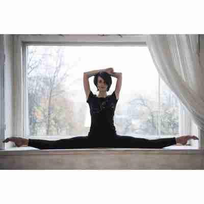 LikeG Medium Fit T-Shirt met Korte Mouw en Afbeelding van Ballerina