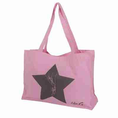 LikeG Roze Shopper Gemaakt van Gerecycled Katoen en Polyester