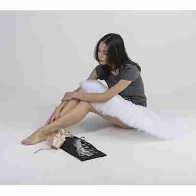 LikeG Zwarte Spitzentas met Afbeelding Ballerina op Spitzen