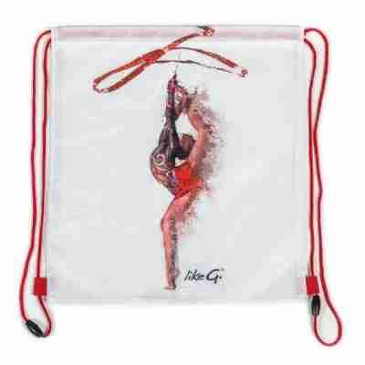 LikeG Tasje met Rode Koordjes voor dansspullen