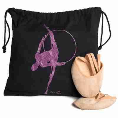 LikeG Zwarte Danstas voor Dansschoenen