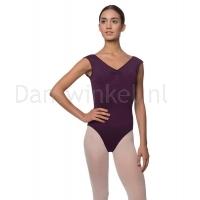 Lulli Dames Kapmouwtjes Balletpak Reyton aubergine