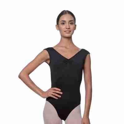 Lulli Dames Kapmouwtjes Balletpak Reyton zwart voor