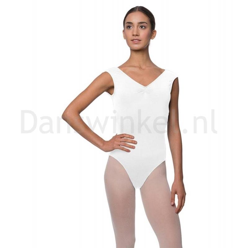 Lulli Dames Kapmouwtjes Balletpak Reyton wit
