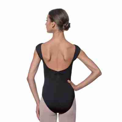 Lulli Dames Kapmouwtjes Balletpak Reyton zwart achter