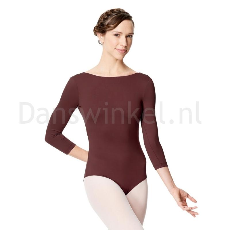 Lulli Dames Balletpak met 3/4 Mouwen Nanette burgundy