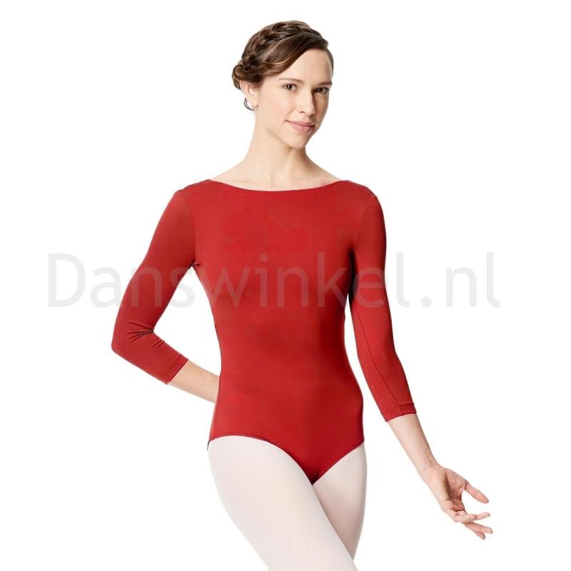 Lulli Dames Balletpak met 3/4 Mouwen Nanette rood