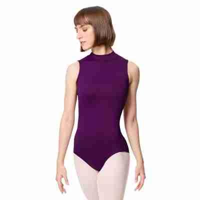 Lulli Dames Mock Neck Balletpak Fancy aubergine