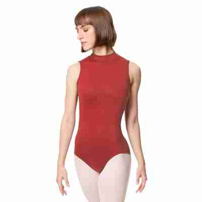 Lulli Dames Mock Neck Balletpak Fancy dark red