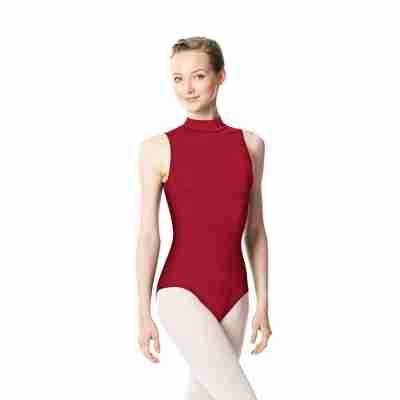 Lulli Anna LUB253 dames balletpakje met col rood