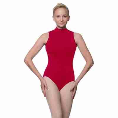 Lulli LUB226C Penelope rood balletpakje met hoge hals