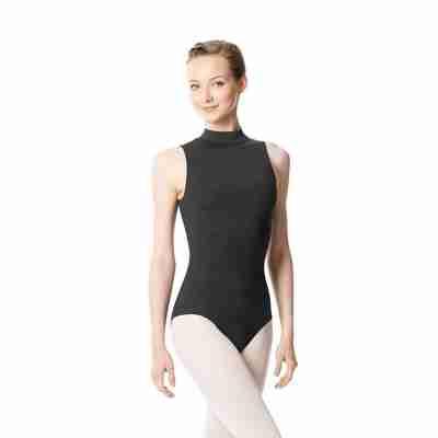 Lulli LUB253 Anna dames balletpak donkergrijs sleutelgat rug