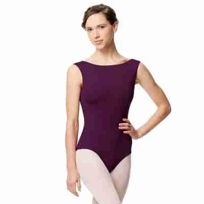 Lulli LUB284 Katja aubergine Balletpakje dames hoge hals