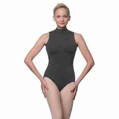 Lulli Penelope LUB226C donkergrijs balletpakje hoge nek
