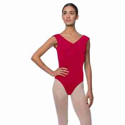 Lulli Peyton LUB222 Dames Balletpak rood met mouwtjes