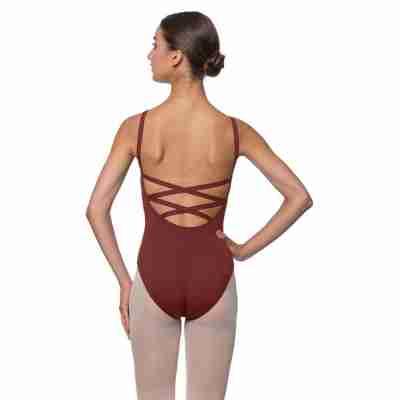 Lulli Veronica LUB224C bordeaux Balletpakje spaghettibandjes