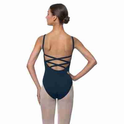Lulli Veronica LUB224C navy Balletpakje met gekruiste rug