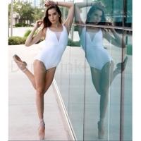 Lulli Dames Balletpak met ronde hals Stephanie