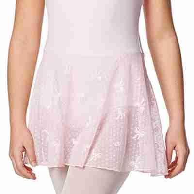 Lulli LUF477C Rosalie roze meisjes balletpakje met rokje van bloemenkant