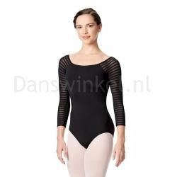 Lulli Dames Balletpak met 3/4 Gestreepte Mouwen Milena