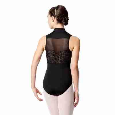 Lulli LUF520 Ximena dames Balletpakje zwart met kanten rug