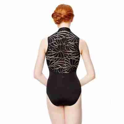 Lulli LUF564 fernanda zwart balletpakje dames met kanten rug