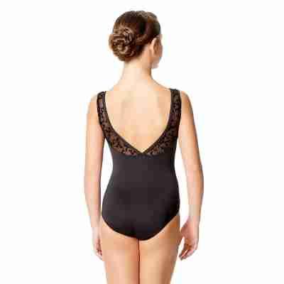 Lulli LUF580 Alegria zwart Balletpak voor meisjes lage rug