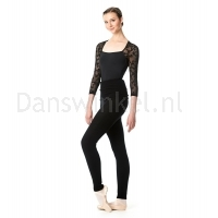 Lulli Dames Warm-Up panty zwart